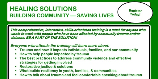 Healing Solutions Training- Winter 2020