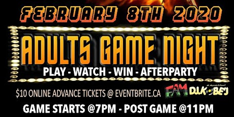 """BIGGER AND HOTTER """"ADULTS GAME NIGHT"""" tickets"""