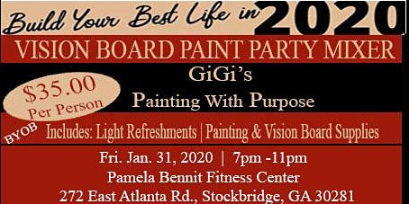 Vision Board Paint Party Mixer