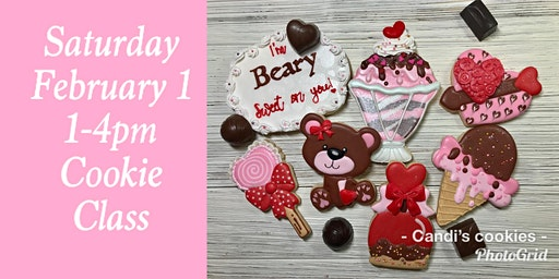 """I'm Beary Sweet On You Valentine!""  Cookie Decorating Class"
