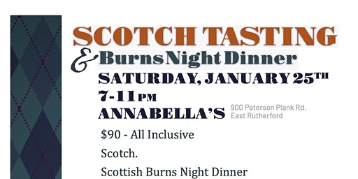 REF Scotch Tasting & Burns Night Dinner