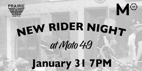 New Rider Night tickets