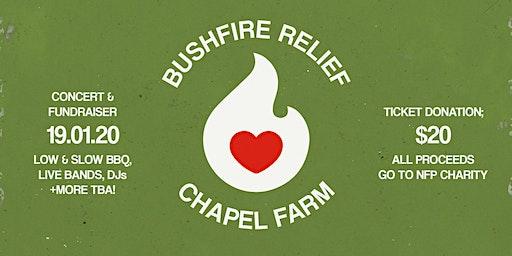 BUSHFIRE RELIEF CONCERT & FUNDRAISER @ CHAPEL FARM