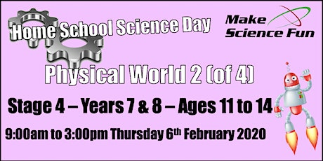 Physical World 2 Stage 4 (Years 7&8) Home School Science - Make Science Fun tickets