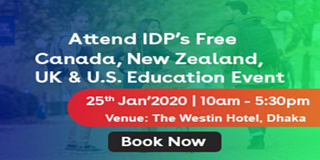 IDP's Canada, New Zealand UK and U.S. Free Education Fair tickets
