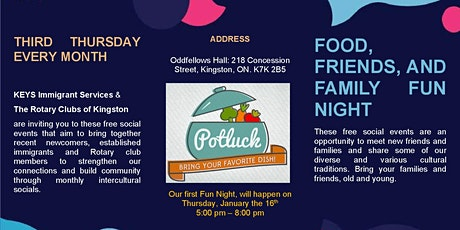 Food, Friends, and Family Fun Night
