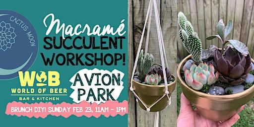 Brunch Macrame Succulent Workshop!
