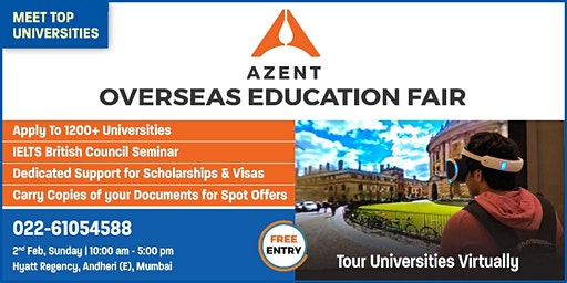 The Azent Overseas Education Fair - 2nd Feb 2020 in Mumbai