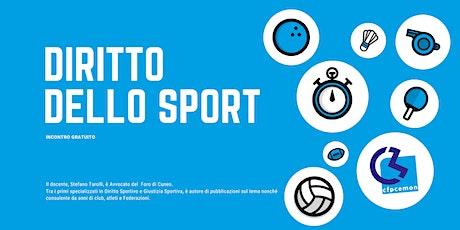 Diritto dello sport biglietti