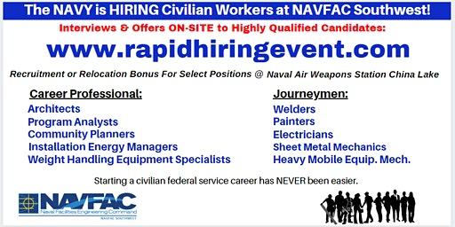 China Lake RAPID HIRE EVENT - NAVFAC Southwest