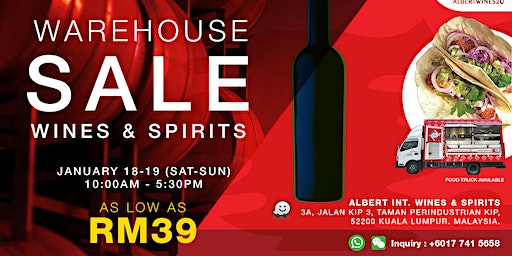Albert Wine & Spirits Pre-CNY Warehouse Clearance