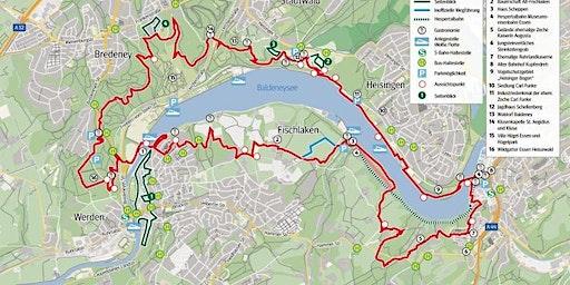 Wandertag für Fortgeschrittene auf dem Baldeneysteig 27km, Hm: 600