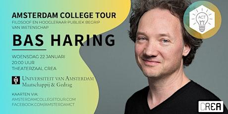 Bas Haring bij Amsterdam College Tour tickets