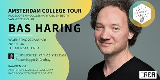 Bas Haring bij Amsterdam College Tour