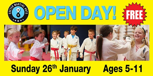 Exeter Martial Arts Open Day Sunday 26th January