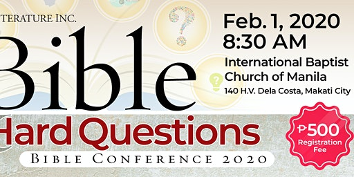 The Bible and Hard Questions Bible Conference