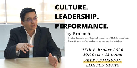 Culture. Leadership. Performance. tickets
