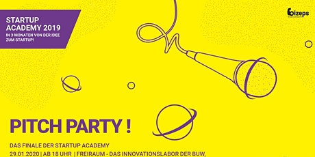 PITCH PARTY No. 4 - bizeps Startup Academy Tickets