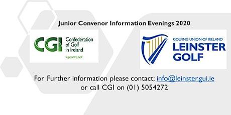 Leinster Golf & CGI Junior Convenor Evening- Tullamore tickets