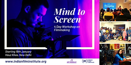Mind to Screen: A Certificate Course in Filmmaking tickets