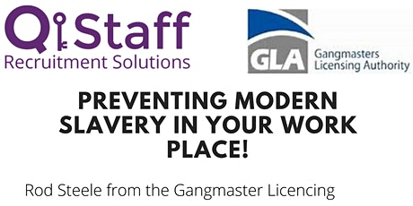 Preventing Modern Slavery in your Work Place tickets