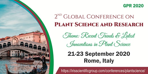 2nd Edition of Global Conference on Plant Science and Research