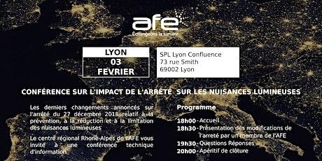Lundi 3 Février 2020 - AFE : Conférence technique d'information sur les derniers changements de  l'arrêté sur les nuisances lumineuses billets