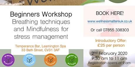Stress Reduction & Mindfulness Workshop tickets