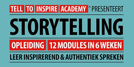 Opleiding Storytelling  | 12 modules in 6 weken tickets