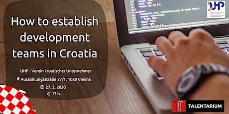 How to establish development teams in Croatia tickets