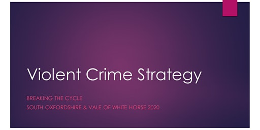 "Violent Crime Strategy - ""Breaking the Cycle"""