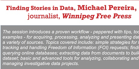 Finding Stories in Data, Michael Pereira, data journalist, WFP tickets