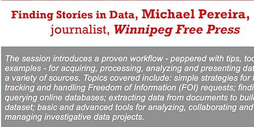 Finding Stories in Data, Michael Pereira, data journalist, WFP