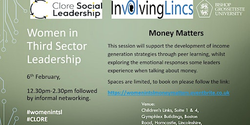 Women in Third Sector Leadership, Lincolnshire: Money Matters