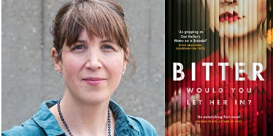 An evening with author Francesca Jakobi talking her novel Bitter