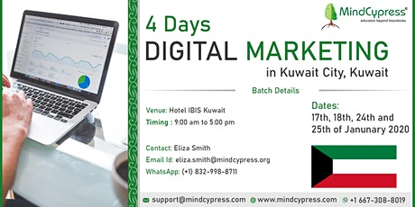 Digital Marketing 4 Days Training by MindCypress at Kuwait tickets
