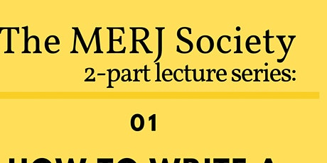MERJ 2-part series: How to write a systematic review & How to get published tickets