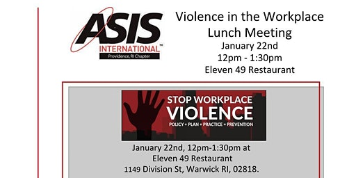 Violence in the Workplace - Meeting