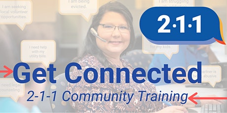Get Connected 2-1-1 Training tickets