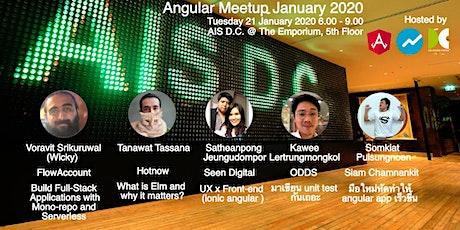 Angular Meetup January 2020 tickets