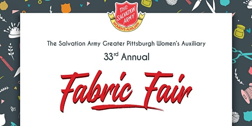 33rd Annual Fabric Fair hosted by The Salvation Army Women's Auxiliary
