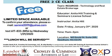 Continuing Education Class tickets
