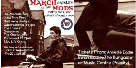 March of The Mods Paisley - For Teenage Cancer Trust tickets