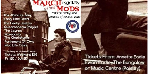 March of The Mods Paisley - For Teenage Cancer Trust