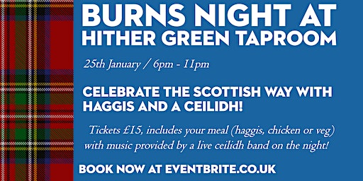 Burns Night Supper & Ceilidh at Hither Green Taproom