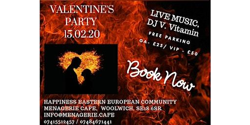 Valentine day Mega Party, Live concert and DJ V Vitamin After party