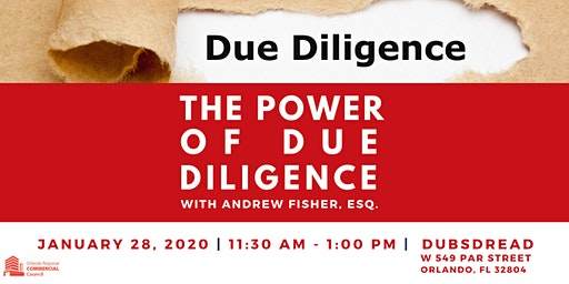 Commercial Council Lunch & Learn - The Power of Due Diligence