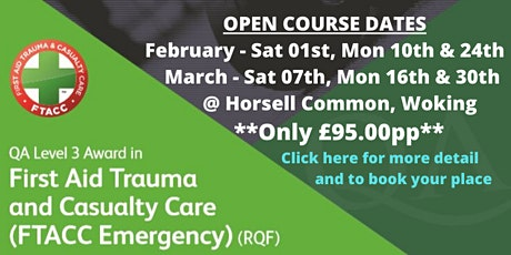 QA L3 First Aid Trauma & Casualty Care Course (Emergency) (RQF) tickets