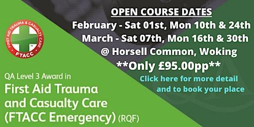 QA L3 First Aid Trauma & Casualty Care Course (Emergency) (RQF)