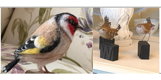 NEEDLE FELTED WREN OR GOLDFINCH